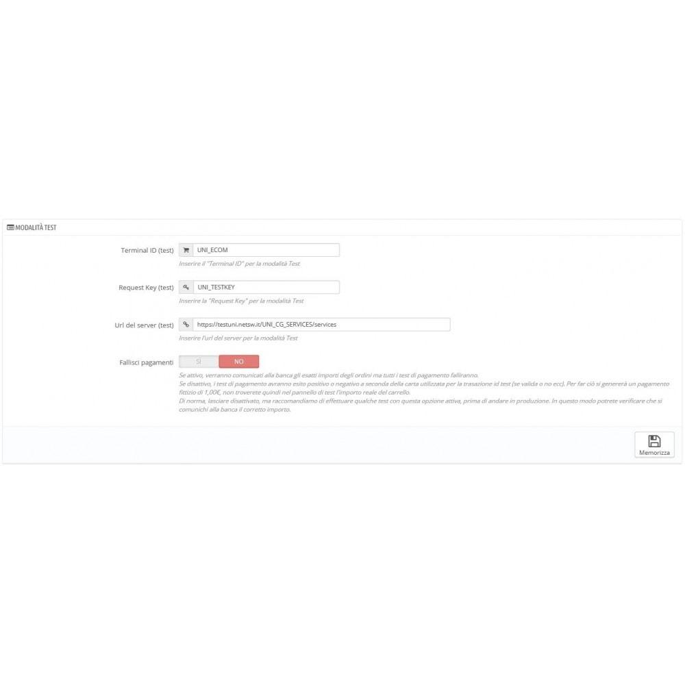 module - Pago con Tarjeta o Carteras digitales - Unicredit PagOnline Imprese - 8