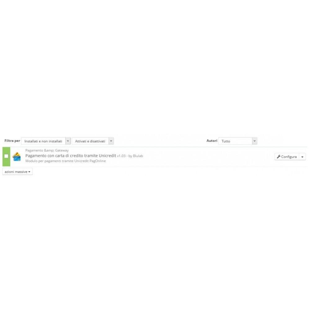 module - Pagamento por cartão ou por carteira - Unicredit PagOnline Imprese - 9
