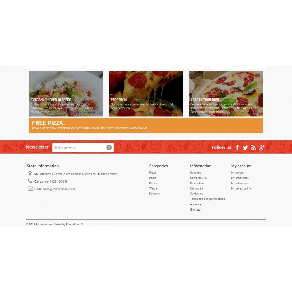 theme - Food & Restaurant - Pizza Fox Prestashop 1.6 Responsive Template - 4