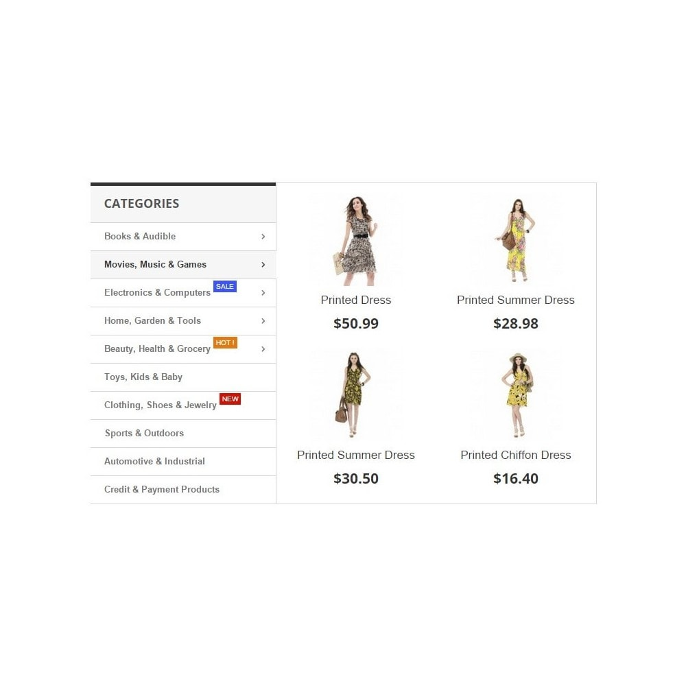 module - Menu - Amazon Dropdown Navigation - Zero Vertical Mega Menu - 2