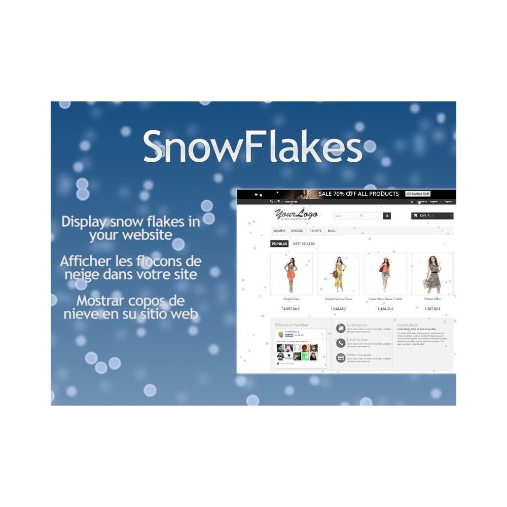 module - Page Customization - Snow Flakes / Rain of snow - 1