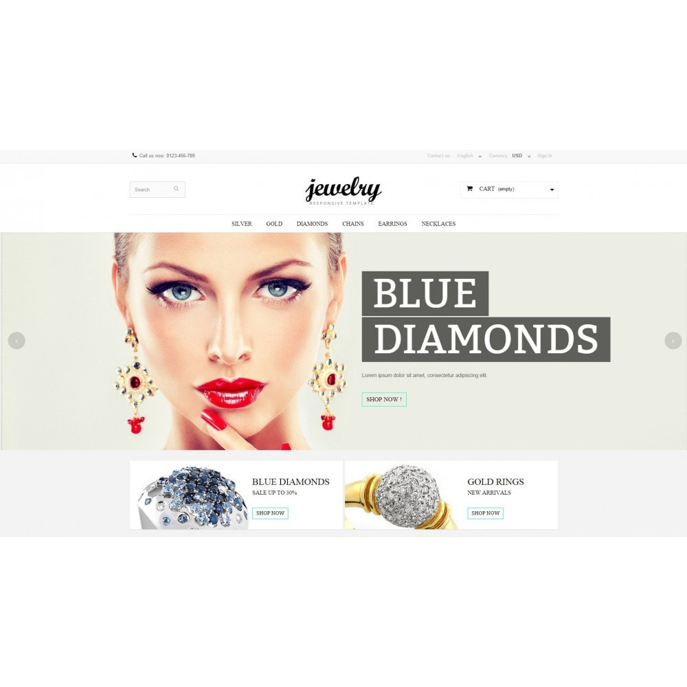 theme - Jewelry & Accessories - Jewelry Prestashop 1.6 Responsive - 3
