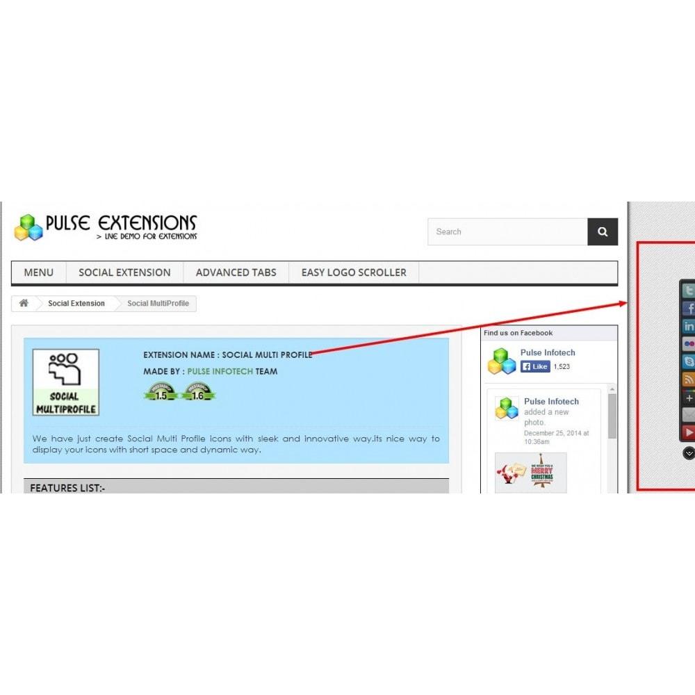 module - Social Widget - Social Multi Profile - 1