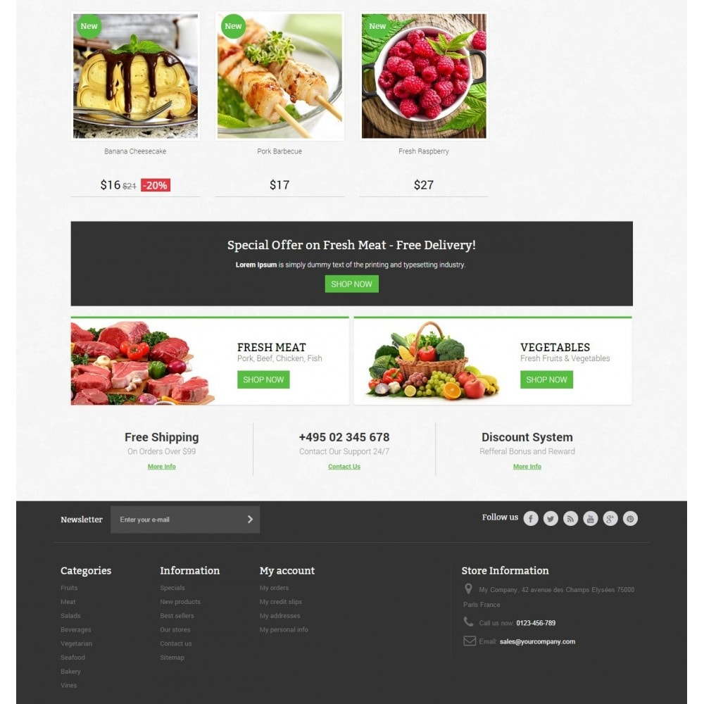 theme - Alimentation & Restauration - Food Store Prestashop 1.6 Responsive - 4