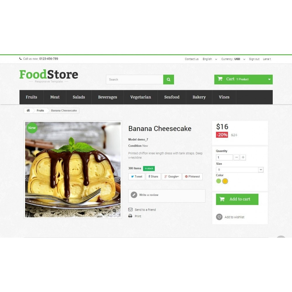 theme - Lebensmittel & Restaurants - Food Store Prestashop 1.6 Responsive - 8