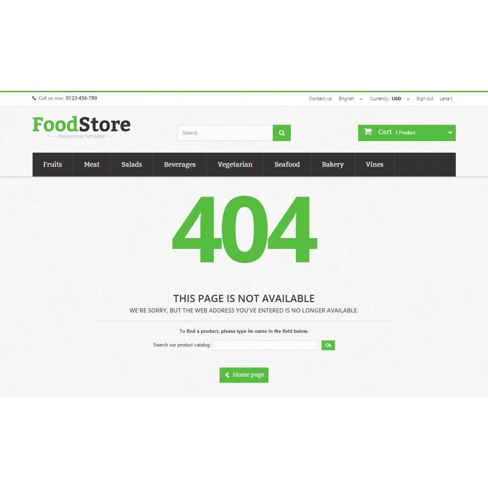 theme - Alimentation & Restauration - Food Store Prestashop 1.6 Responsive - 11