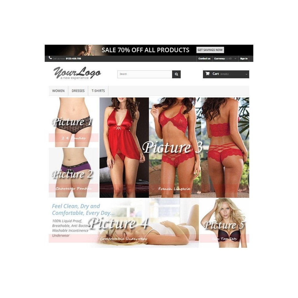 module - Personalizacja strony - Responsive Homepage Layout 3 - Lingerie - 2