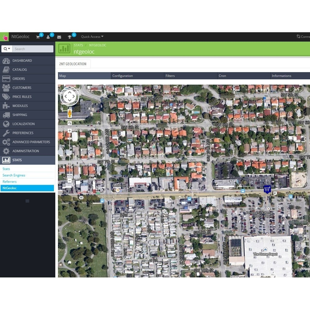 module - Internationaal & Lokalisatie - NT Geoloc, precisely locate your customers and stores - 8