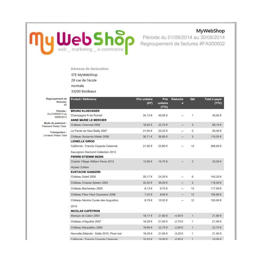 module - Comptabilité & Facturation - Facture pour un groupe de clients - 1