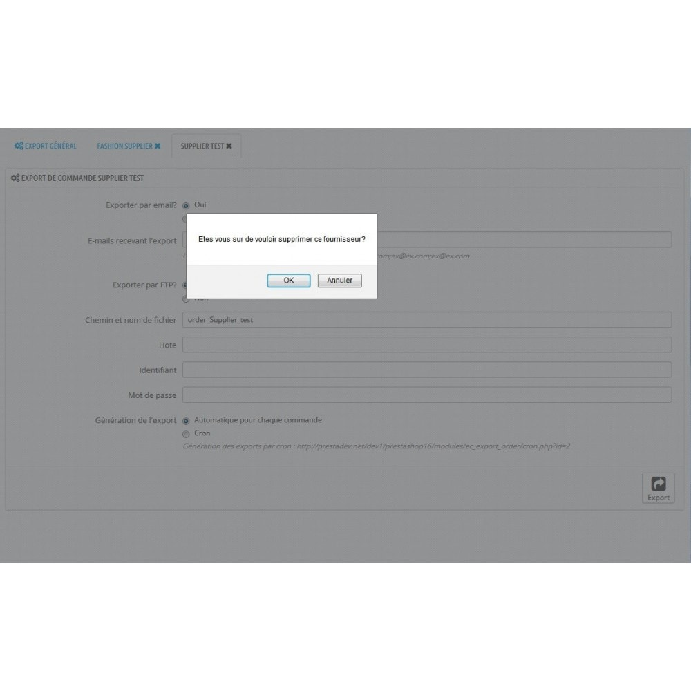 module - Dropshipping - Export commande CSV/FTP par fournisseur - Dropshipping - 3