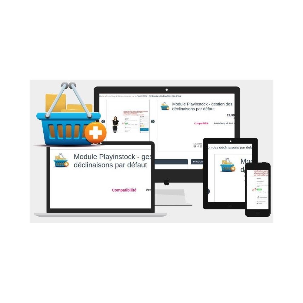 module - Déclinaisons & Personnalisation de produits - Playinstock - gestion des déclinaisons par défaut - 1