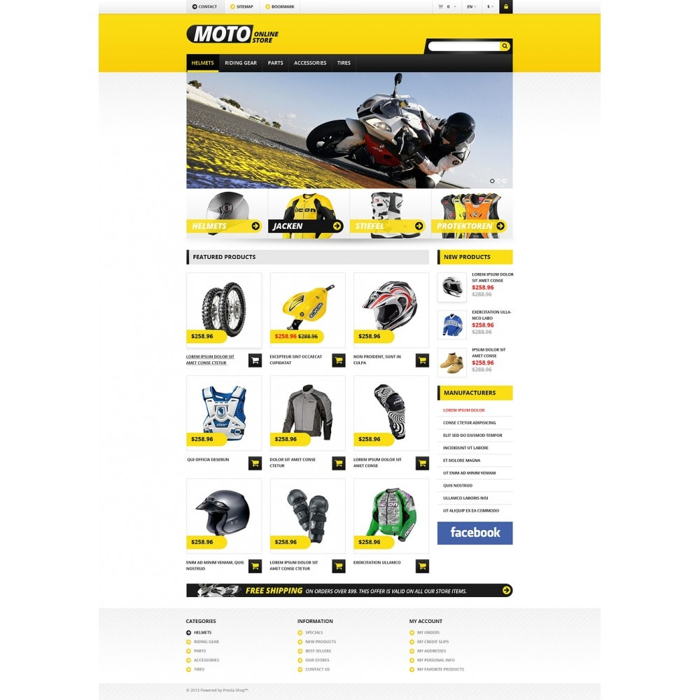 theme - Coches y Motos - Responsive Online Moto Store - 8