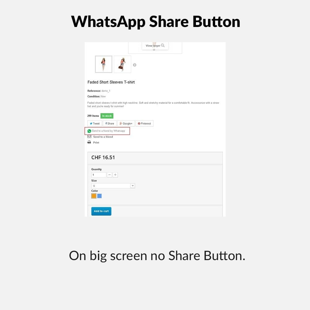 module - Pulsanti di condivisione & Commenti - WhatsApp Share Button - 2