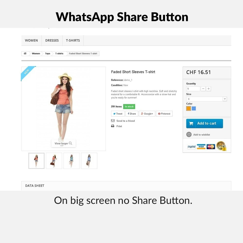 module - Deelknoppen & Commentaren - WhatsApp Share Button - 3