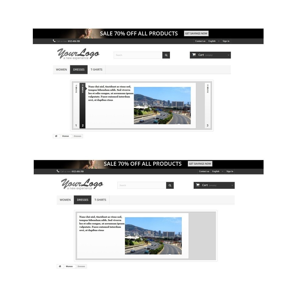 module - Sliders & Galeries - Slideshow 7 en 1 / Mobile / Responsive / Animation - 11