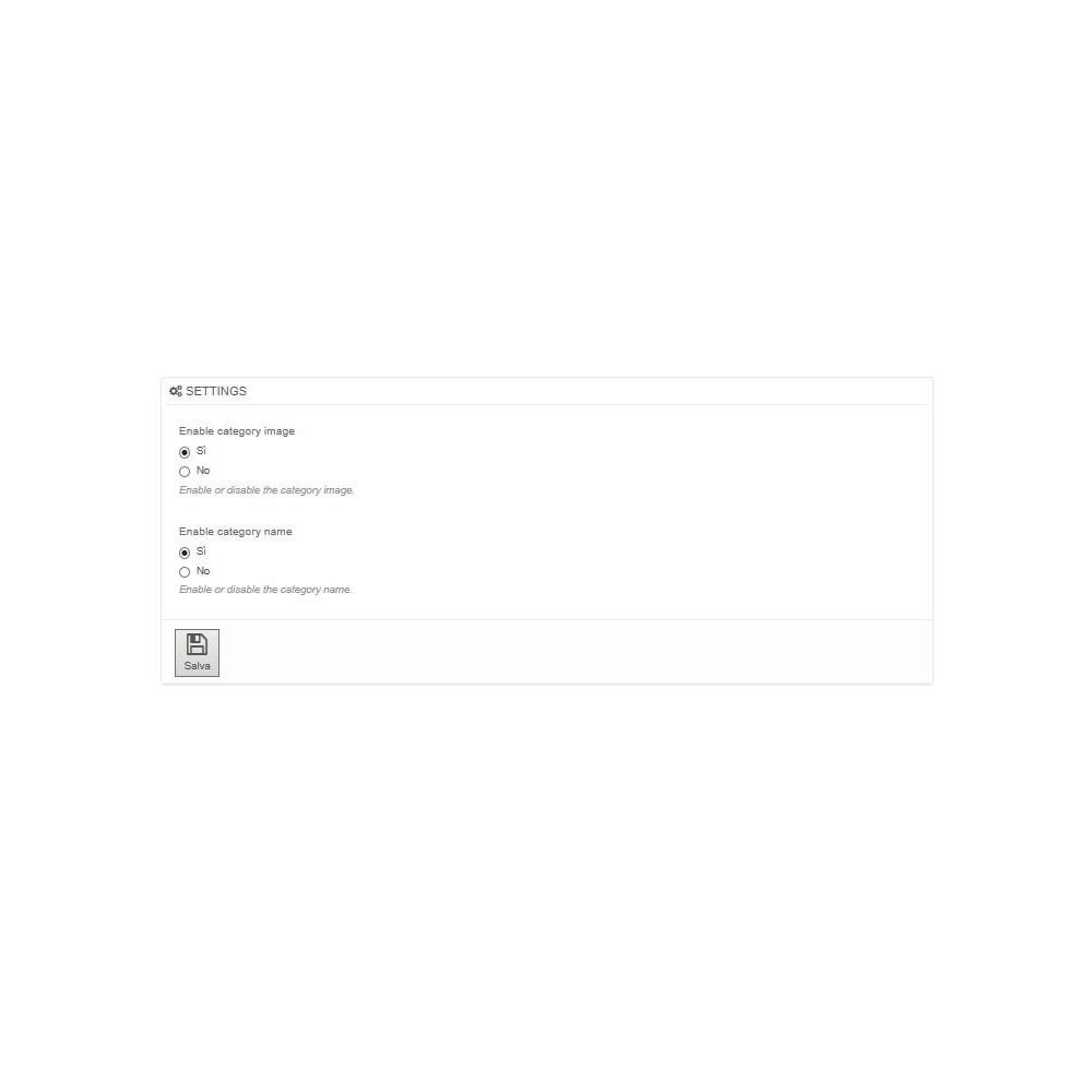 module - Prodotti su Home - Categorie in home page - 2