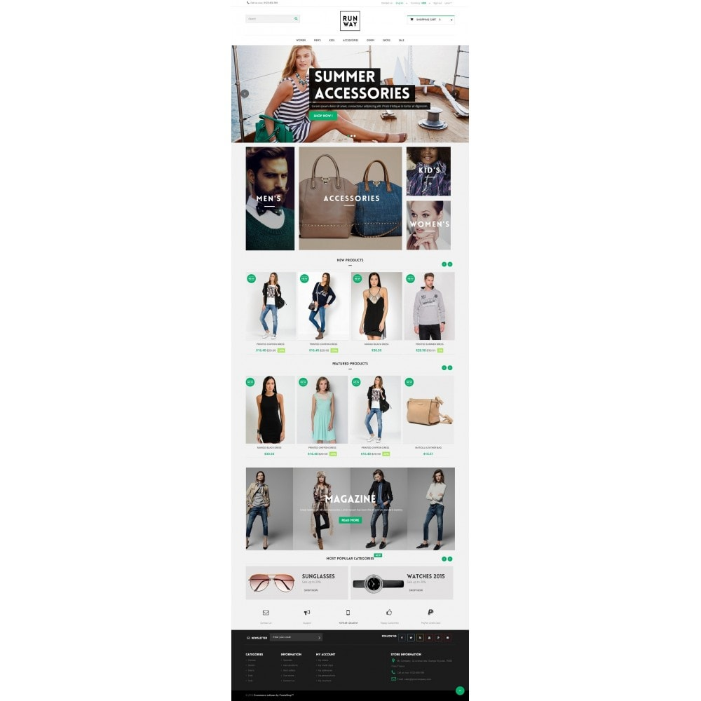 theme - Mode & Schoenen - Runway Fashion Responsive Prestashop 1.6 - 2