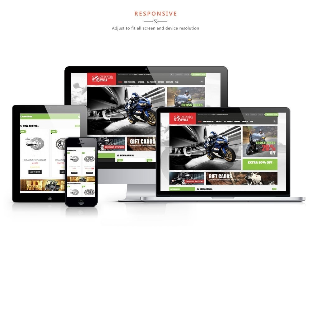theme - Sports, Activities & Travel - Leo Motorcycle Store - 1