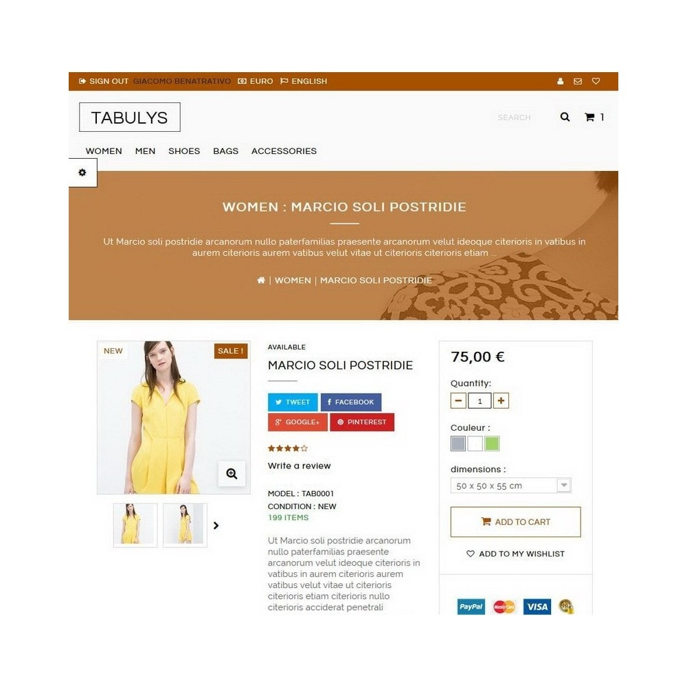 theme - Mode & Chaussures - Tabulys - 4