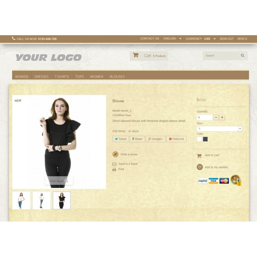 theme - Mode & Schuhe - Super Neutral - Prestashop Responsive 2 - 4