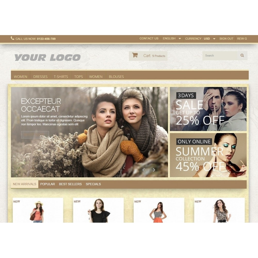 theme - Moda & Calzature - Super Neutral - Prestashop Responsive 2 - 5