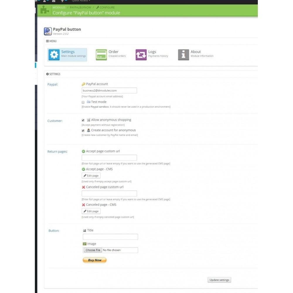 PayPal buy now button - PrestaShop Addons