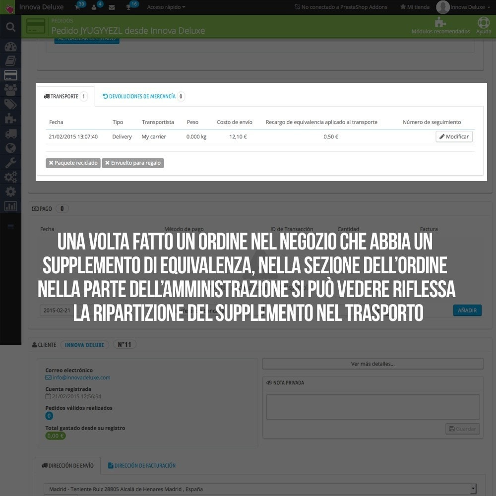 module - B2B - Applicare supplemento di equivalenza a ordini/fatture - 21