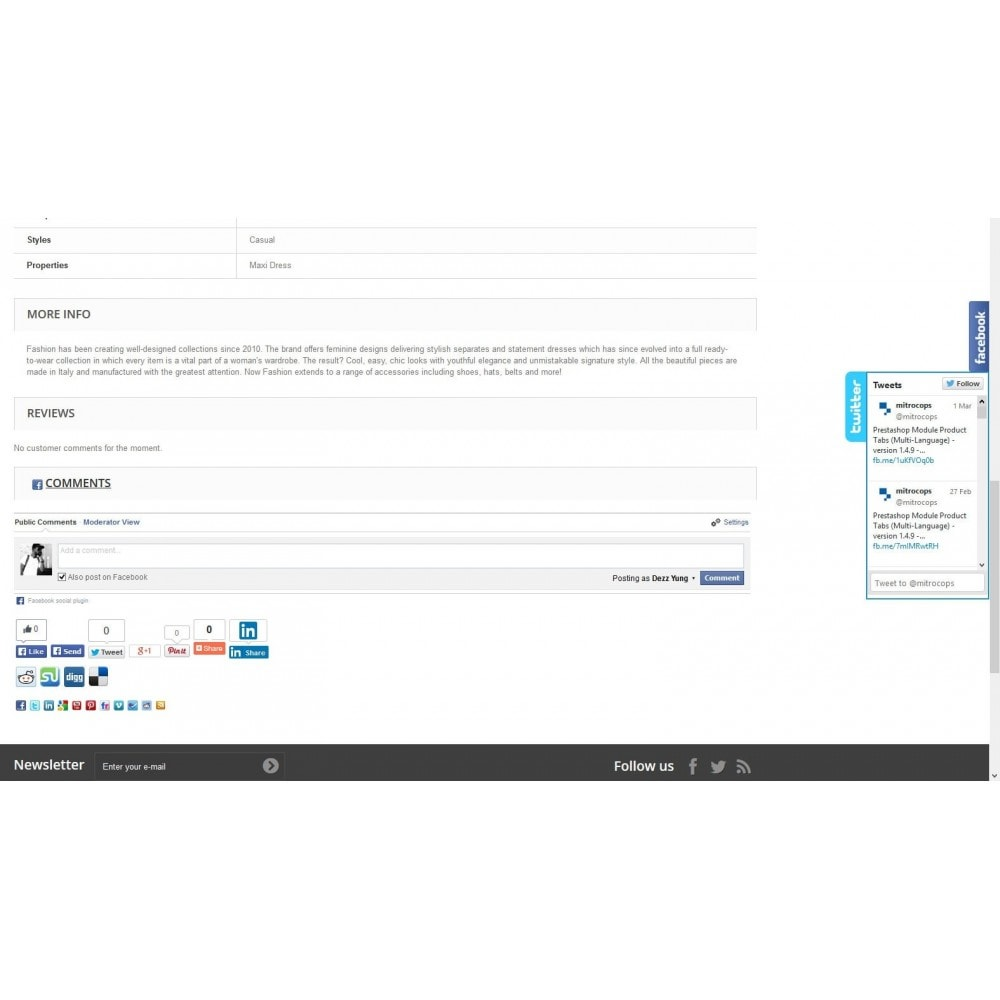 module - Deelknoppen & Commentaren - Social Constructor (Share and Follow) - 3