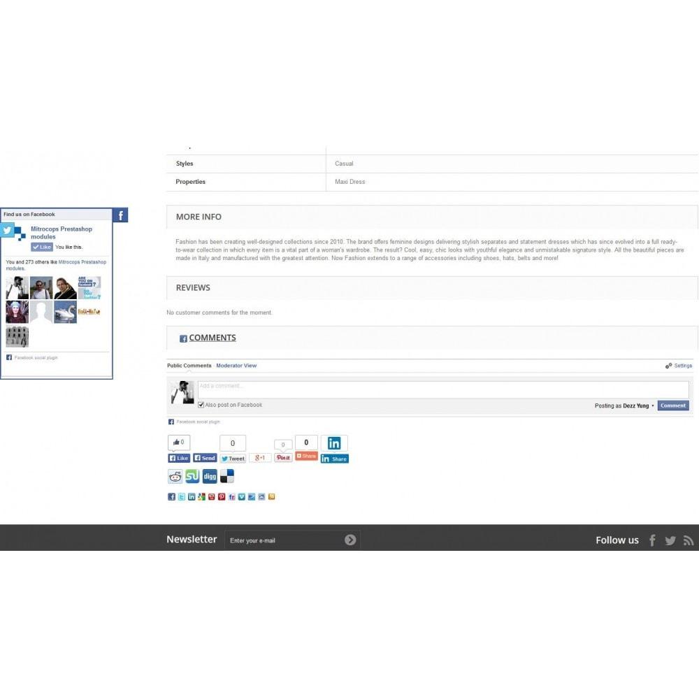 module - Deelknoppen & Commentaren - Social Constructor (Share and Follow) - 4