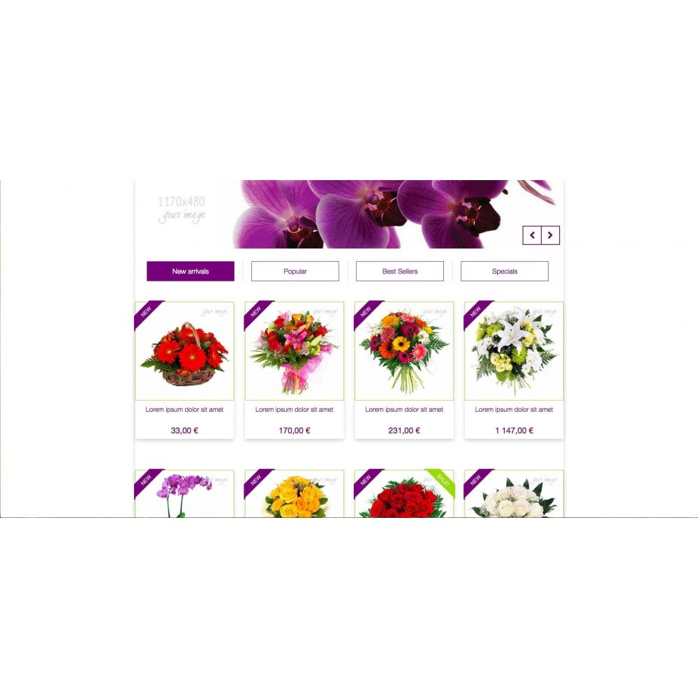 theme - Gifts, Flowers & Celebrations - Templant flowers - 4