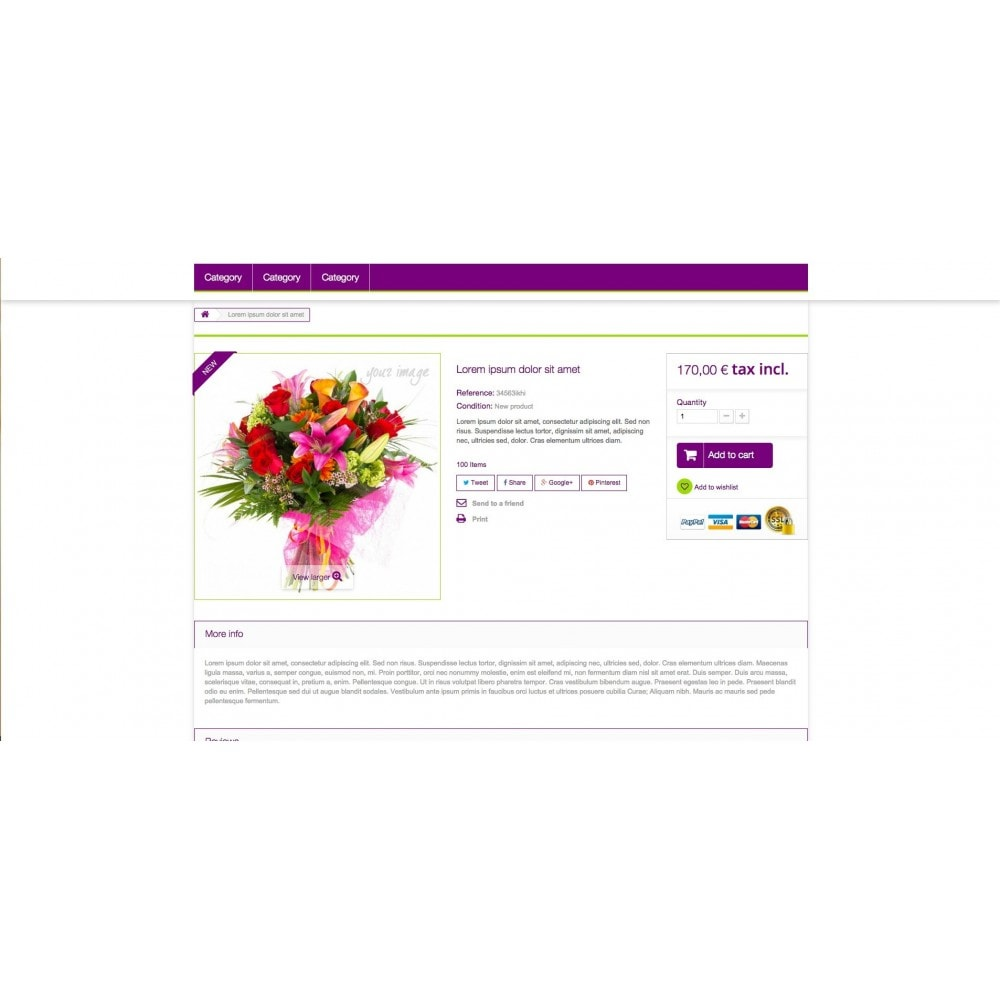 theme - Gifts, Flowers & Celebrations - Templant flowers - 5