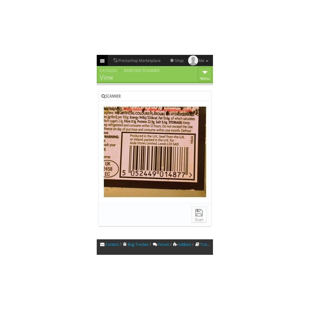 module - Stock & Supplier Management - BarcodeScanner - 1
