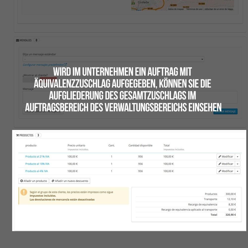 module - B2B - Äquivalenzzuschlags auf Aufträge und Rechnungen - 22