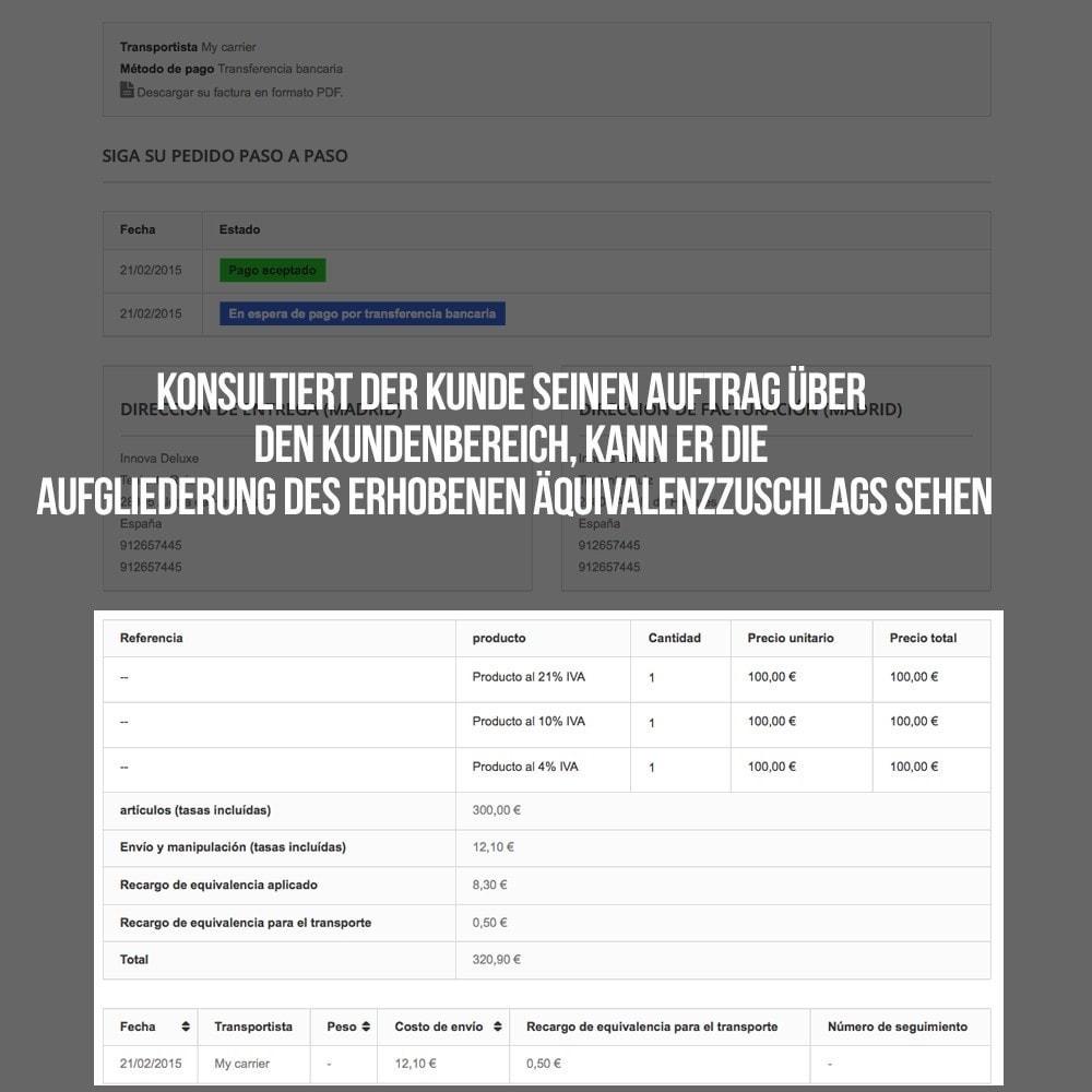 module - B2B - Äquivalenzzuschlags auf Aufträge und Rechnungen - 23