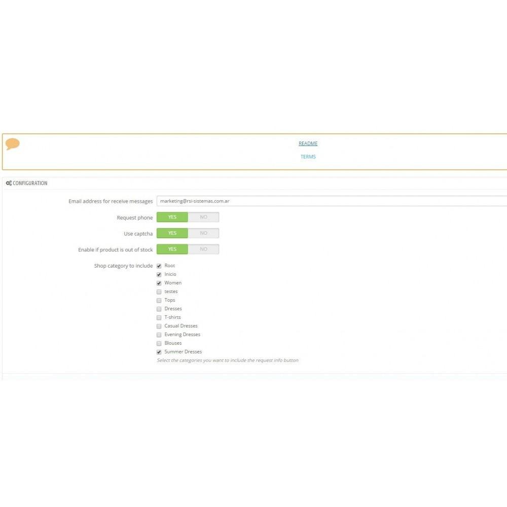 module - Formulario de contacto y Sondeos - Request Product Info - 6