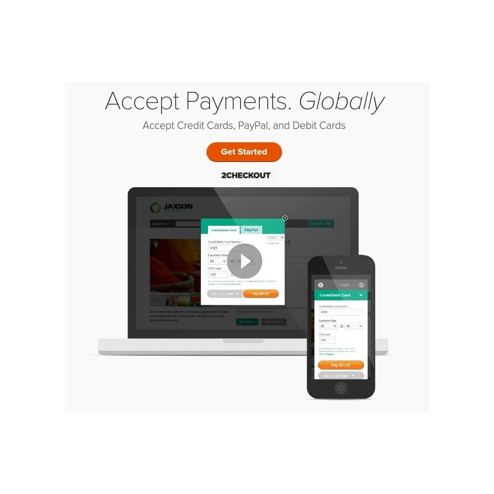 module - Payment by Card or Wallet - 2checkout payment gateway / PayPal & Credit Card online - 1