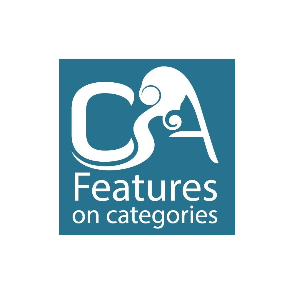 module - Herramientas Administrativas - Características en categorías - 1