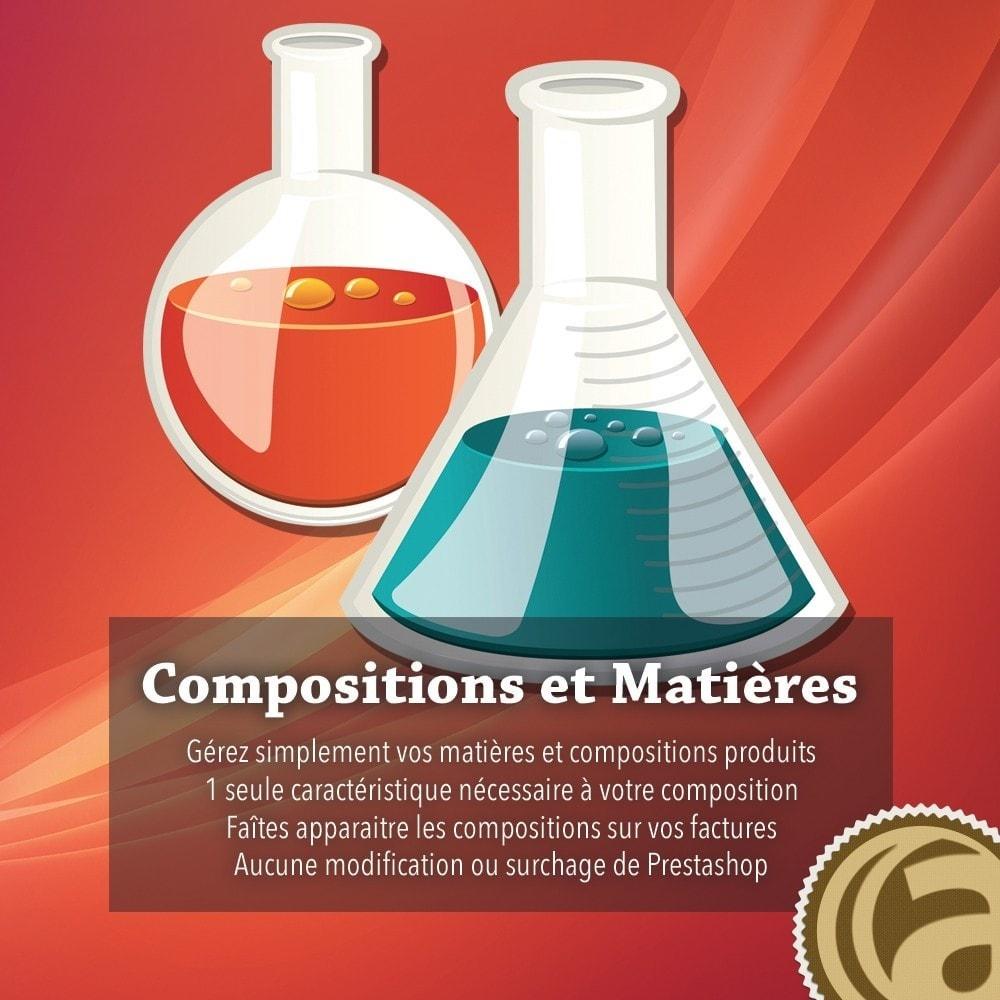module - Déclinaisons & Personnalisation de produits - Compositions et matières - 1
