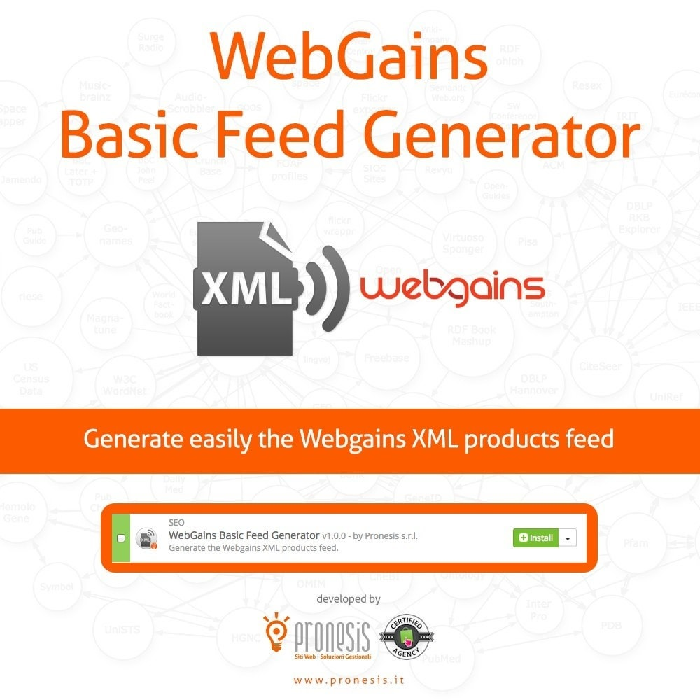 module - Daten Im-&Export - WebGains Basic Feed Generator - 1