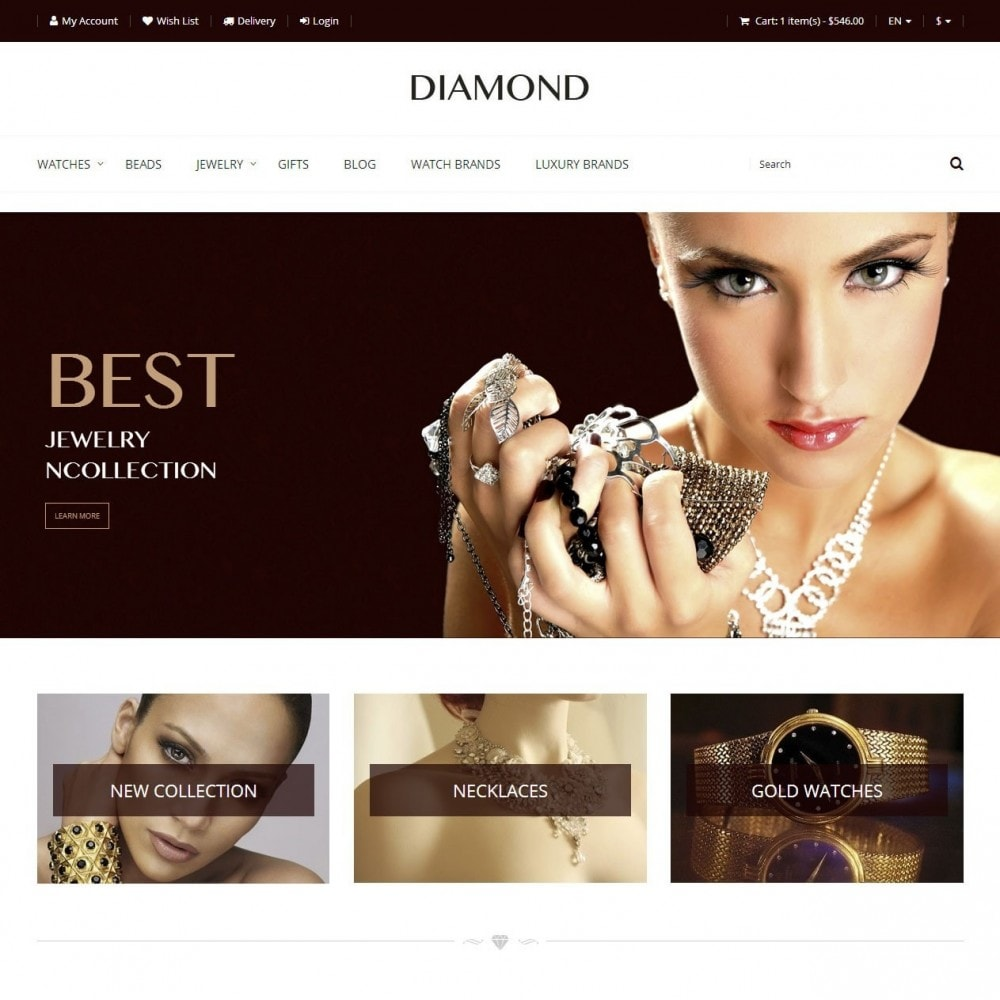 theme - Jewelry & Accessories - Diamond - Jewelry Store - 1