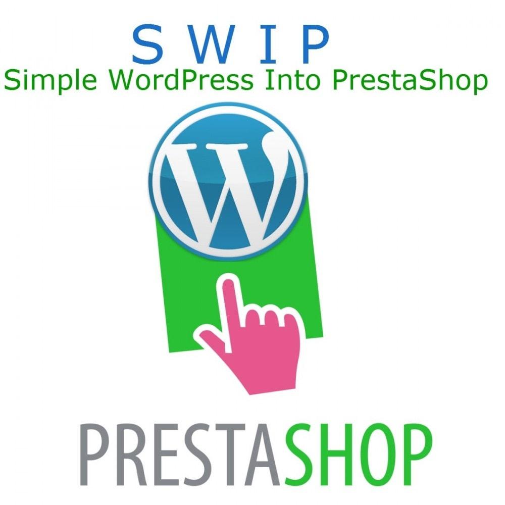 module - Blog, Foro y Noticias - Simple WordPress Into PrestaShop - 1