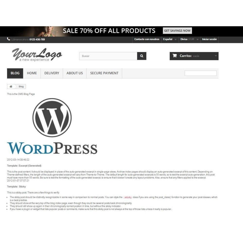 module - Blog, Foro y Noticias - Simple WordPress Into PrestaShop - 2