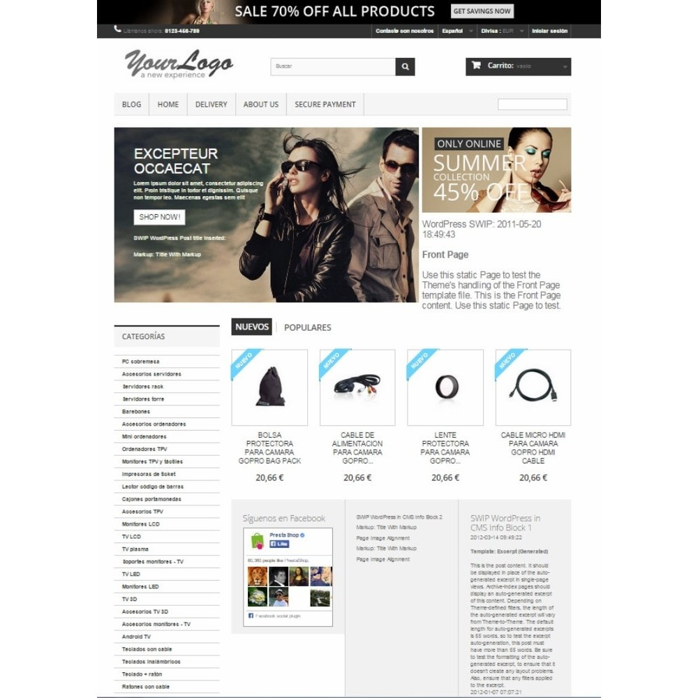 module - Blog, Forum & News - Simple Wordpress Into PrestaShop - 6
