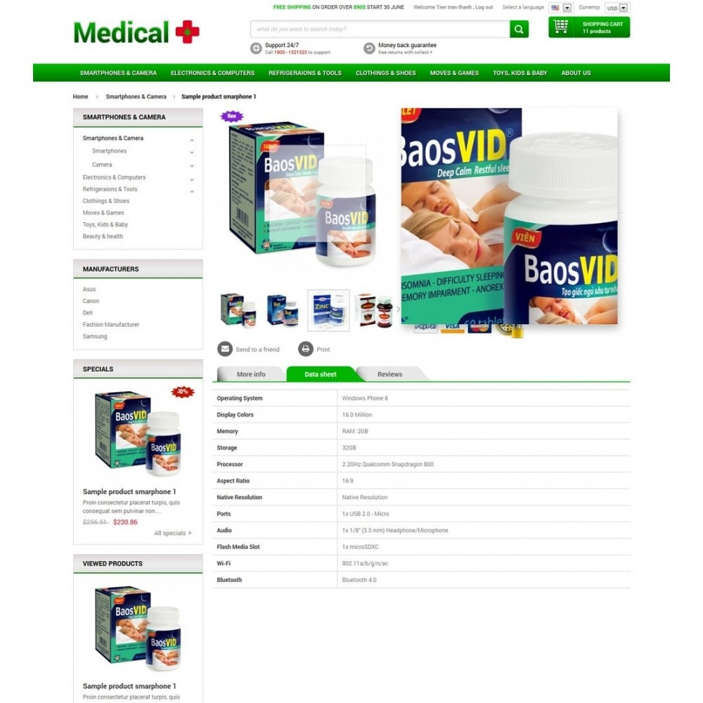 theme - Salud y Belleza - Responsive Best Medical Prestashop Theme - 5