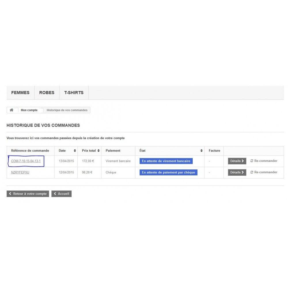 module - Gestion des Commandes - Format de références commandes à votre gré - 3