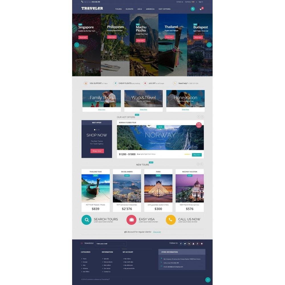 theme - Sports, Activities & Travel - Traveler Prestashop 1.6 Responsive Theme - 2