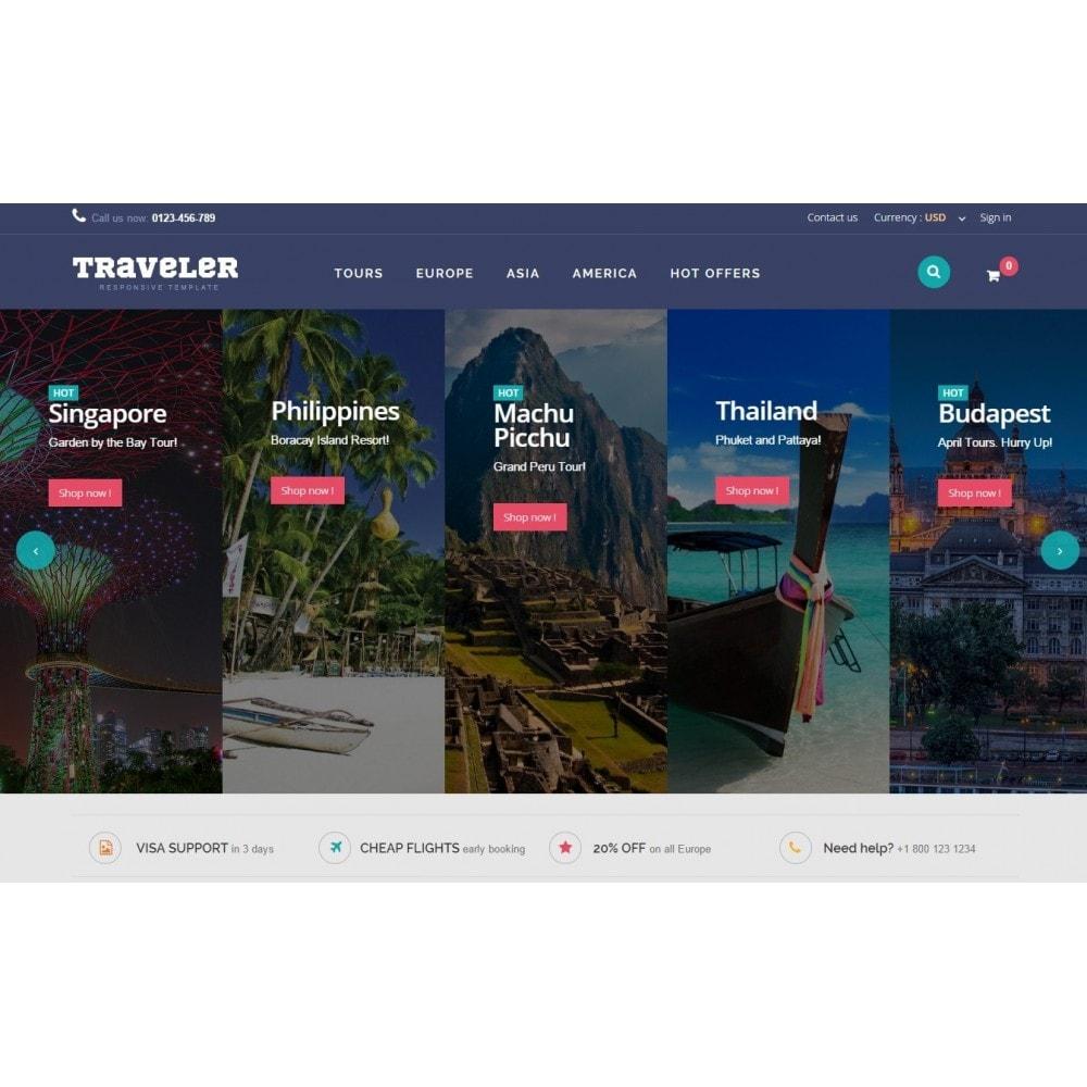 theme - Sport, Attività & Viaggi - Traveler Prestashop 1.6 Responsive Theme - 3