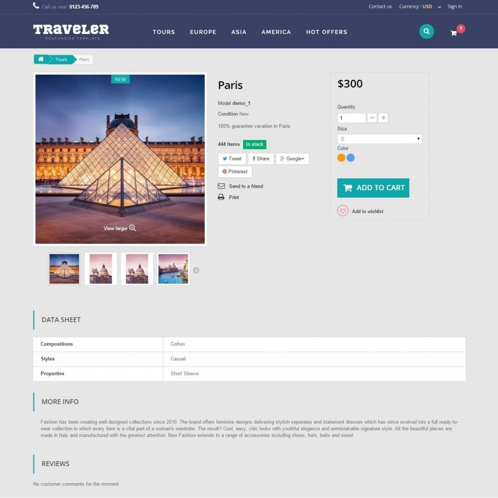 theme - Deportes, Actividades y Viajes - Traveler Prestashop 1.6 Responsive Theme - 9