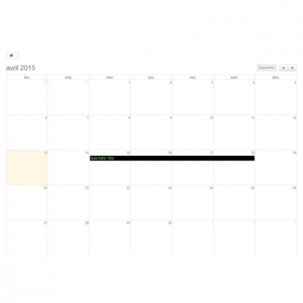 module - Blog, Foro y Noticias - Dynamic Events Calendar - 1