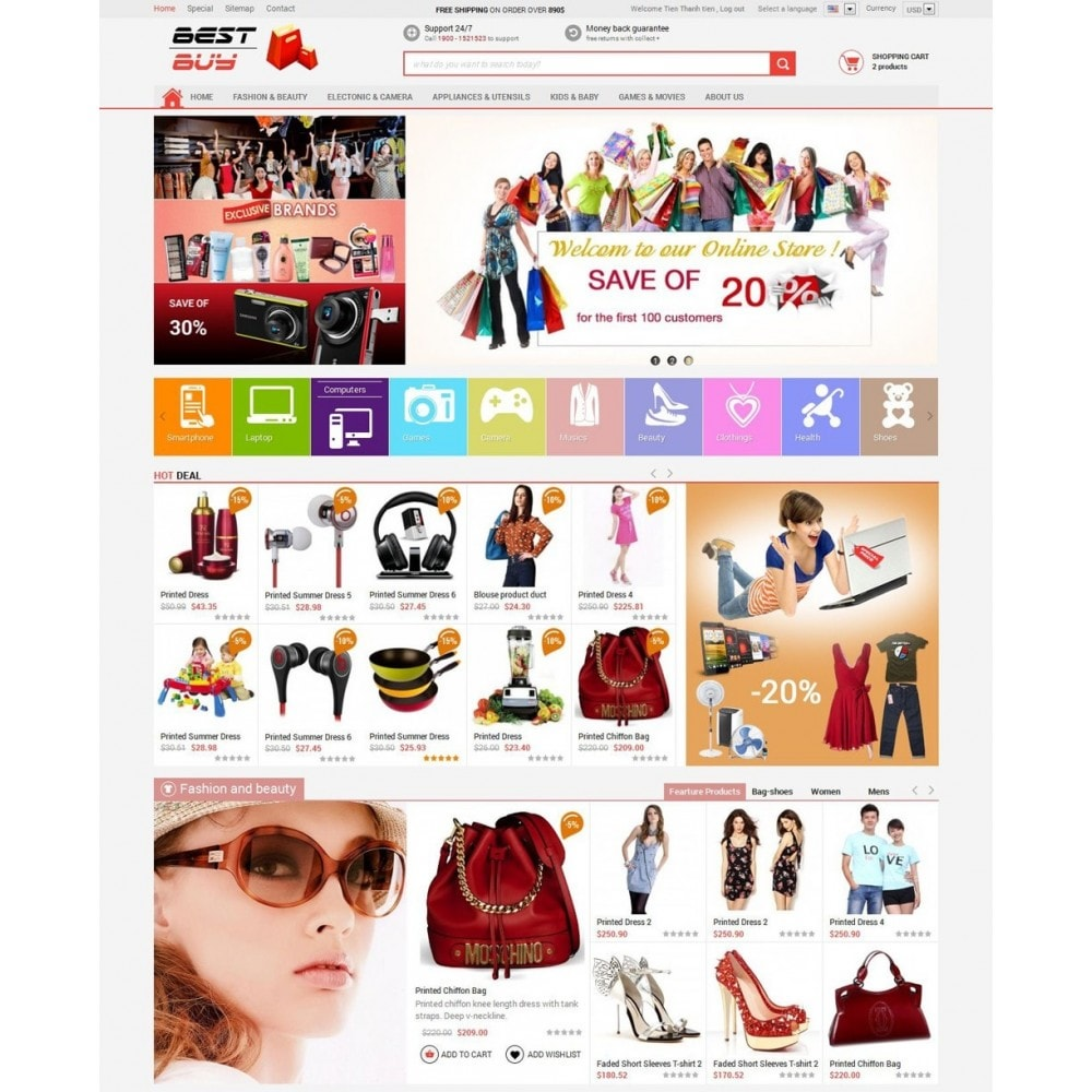 theme - Eletrônicos & High Tech - Responsive Best Buy Prestashop Theme - 2